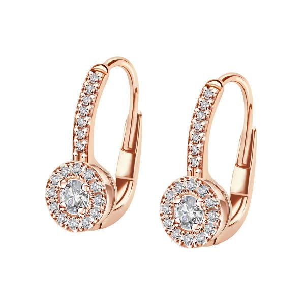 Zdjęcie Metropolitan - kolczyki z różowego złota z diamentami #1