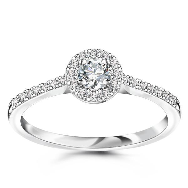Zdjęcie Metropolitan - pierścionek platynowy z diamentami #1
