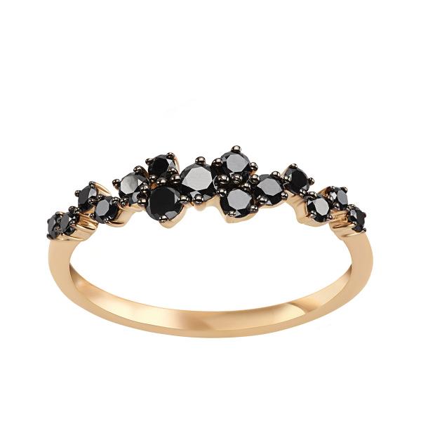 Zdjęcie Midnight - pierścionek złoty z diamentami #1