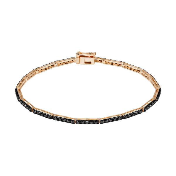 Zdjęcie Midnight - złota bransoletka z diamentami #1