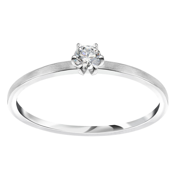 pierścionek-z-białego-złota-satynowany-z-diamentem-lotos-1