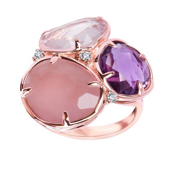 pierścionek-z-różowego-złota-z-diamentami,-chalcedonem,-ametystem-i-kwarcem-1