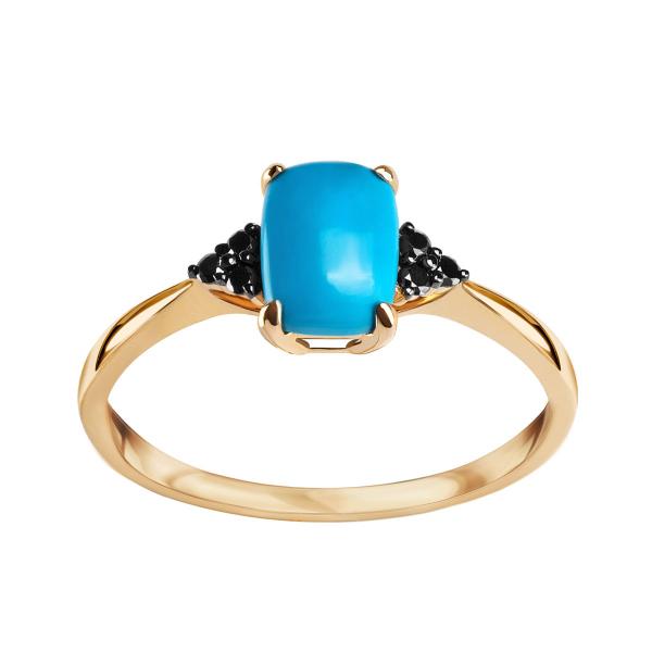 pierścionek-złoty-z-czarnymi-diamentami-i-turkusem-1