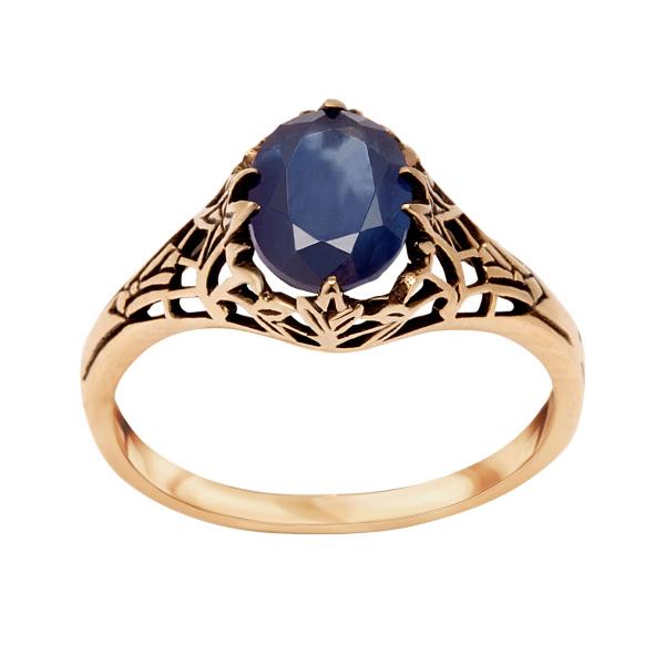 pierścionek-złoty-z-szafirem-kolekcja-wiktoriańska-1