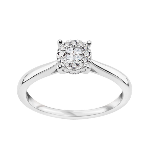 Zdjęcie Platynowy pierścionek z diamentami #1