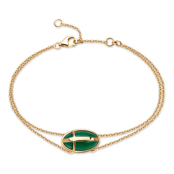 Zdjęcie Skarabeusz - bransoletka złota z agatem #1
