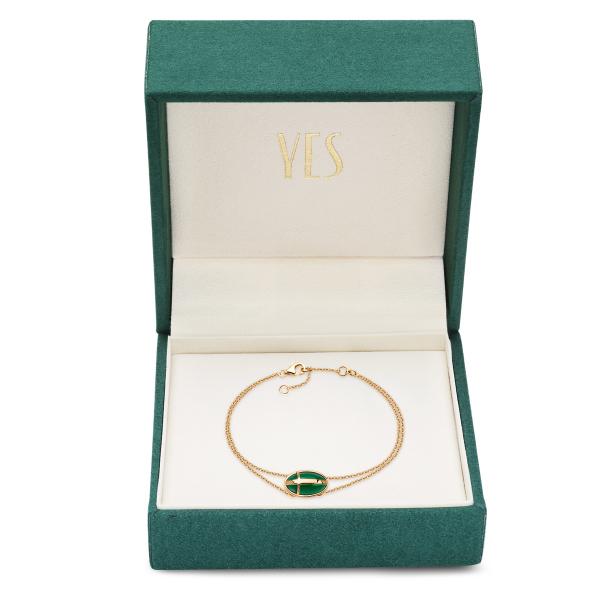 Zdjęcie Skarabeusz - bransoletka złota z agatem #2