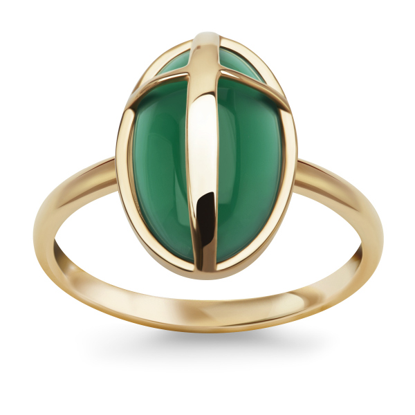 Zdjęcie Skarabeusz - złoty pierścionek  #1