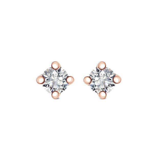 Zdjęcie Valentine - kolczyki z różowego złota z diamentami #1