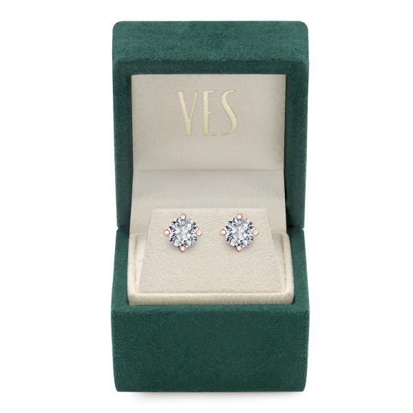 Zdjęcie Valentine - kolczyki z różowego złota z diamentami #2