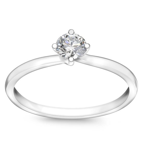 Zdjęcie Valentine - pierścionek z platyny z diamentem #1