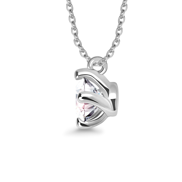 Zdjęcie Valentine - naszyjnik z białego złota z diamentem #2