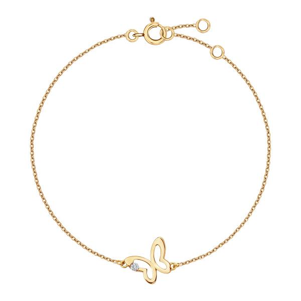 Zdjęcie Bransoletka złota z diamentem #1