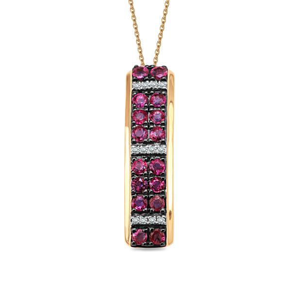 Zdjęcie Złota zawieszka z diamentami i rubinami #1