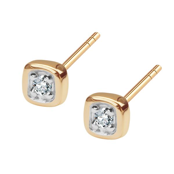 Zdjęcie Złote kolczyki z diamentem #1