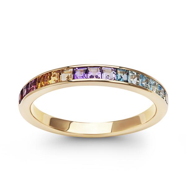 Zdjęcie Liberty - złoty pierścionek z kamieniami #1