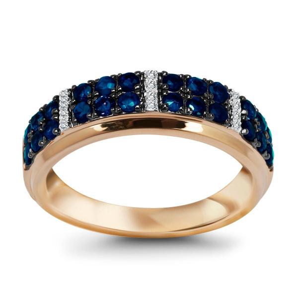 pierścionek-z-żółtego-złota-z-diamentami-i-szafirami-1