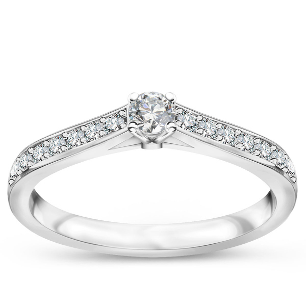 Zdjęcie Éternel - pierścionek z białego złota z diamentami #1