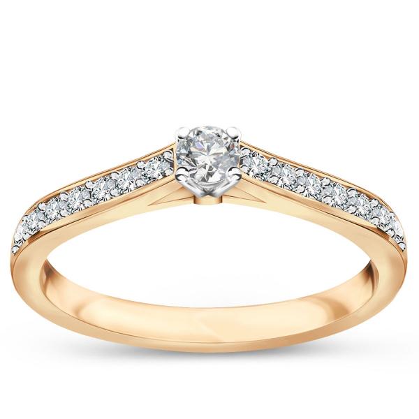 Zdjęcie Éternel - pierścionek złoty z diamentami #1