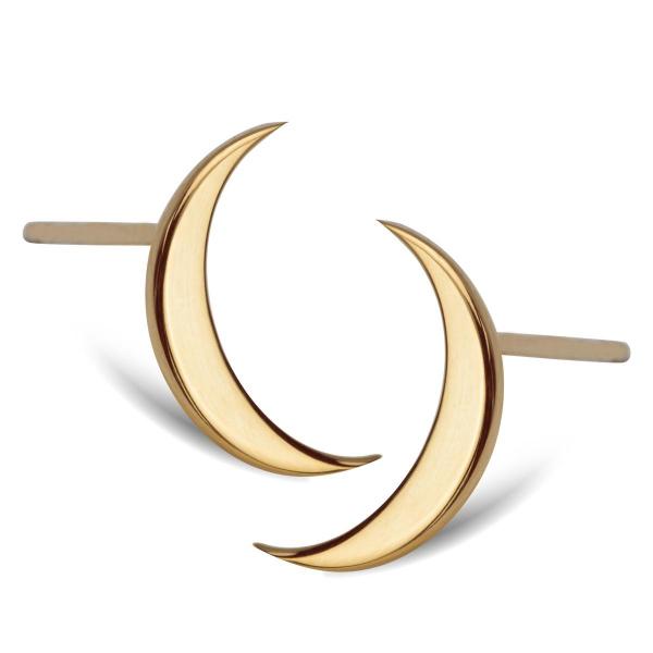 Zdjęcie Eclipse - złote kolczyki #1