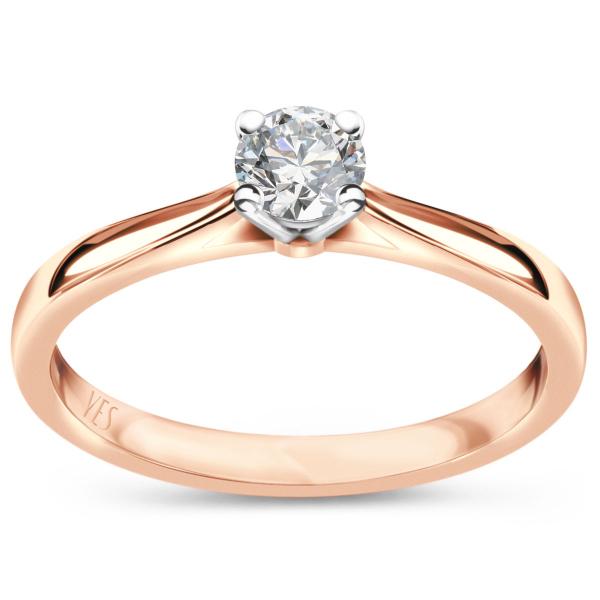 Zdjęcie Éternel - pierścionek różowego złota z diamentem #1