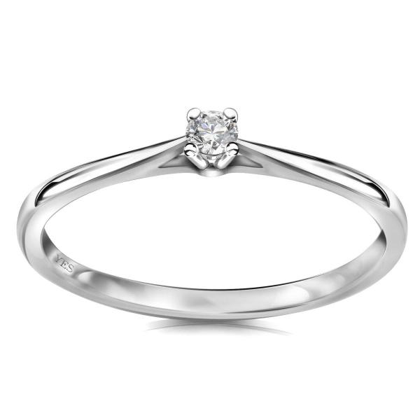 Zdjęcie Éternel - pierścionek z białego złota z diamentem #1