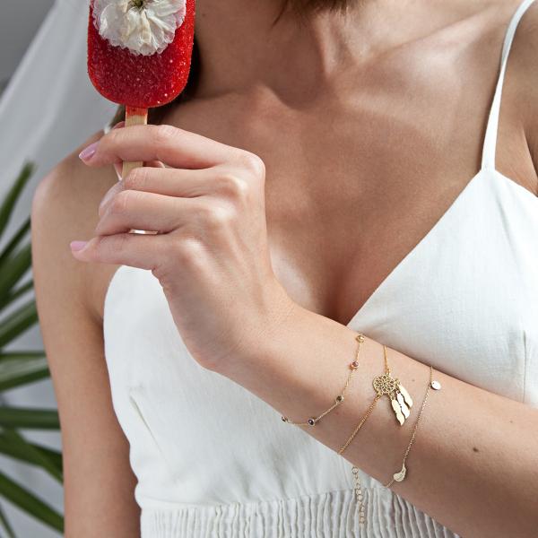 Zdjęcie Bransoletka srebrna pokryta złotem #4