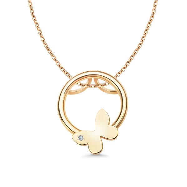 Zdjęcie Molly - złota zawieszka z diamentem #1