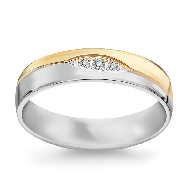 Zdjęcie Złota obrączka z diamentami  #1