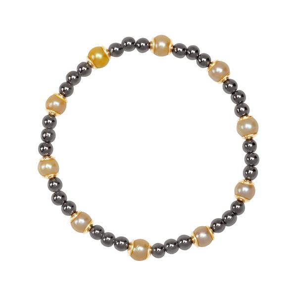 Zdjęcie YES Palette - bransoletka z hematytem i perłami #1