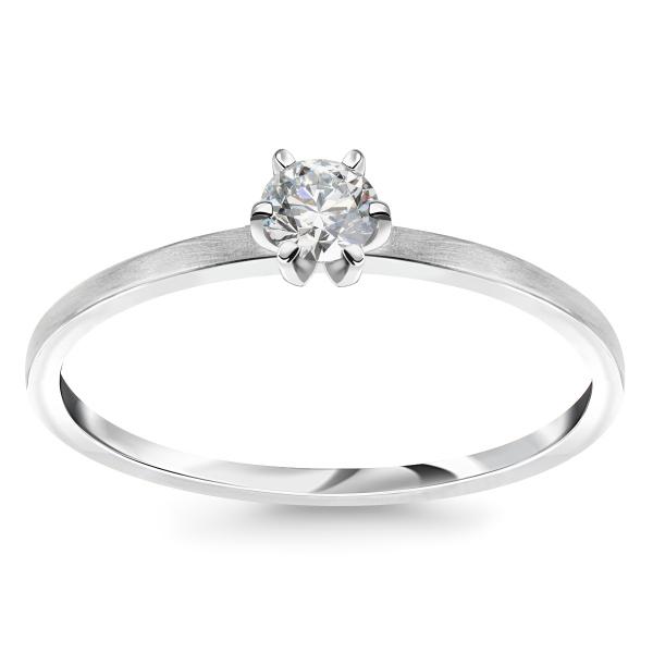 Zdjęcie Lotos - złoty pierścionek z diamentem #1
