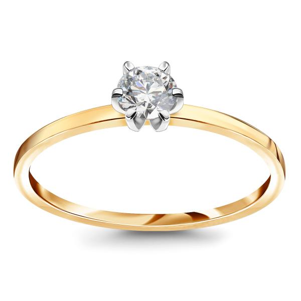 Zdjęcie Lotos - pierścionek z diamentem #1