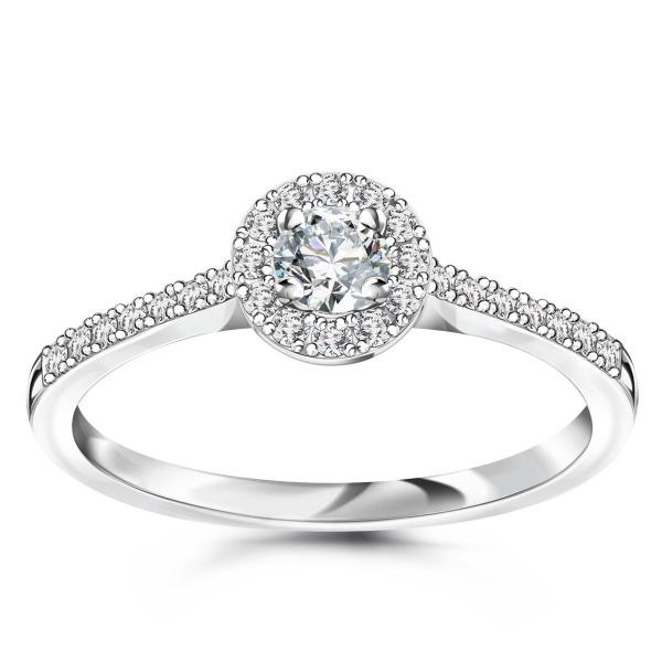 Zdjęcie Metropolitan - pierścionek z białego złota z diamentami #1