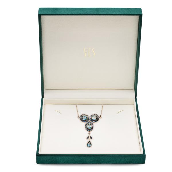 Zdjęcie Kolekcja Wiktoriańska - naszyjnik złoty z topazami. #2