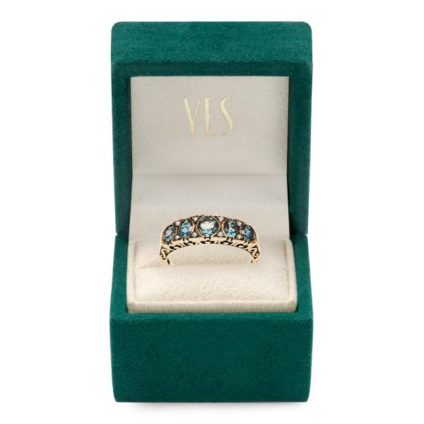 Zdjęcie Kolekcja Wiktoriańska - pierścionek z diamentami i topazami  #2