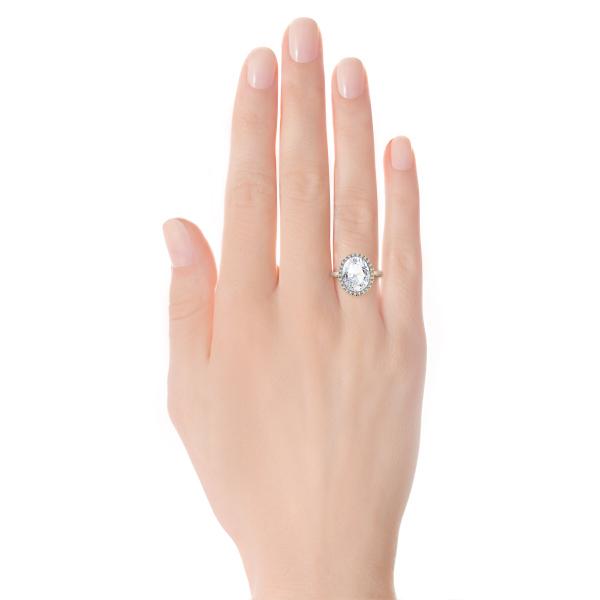 Zdjęcie Jubilé - złoty pierścionek z topazem i diamentami #2