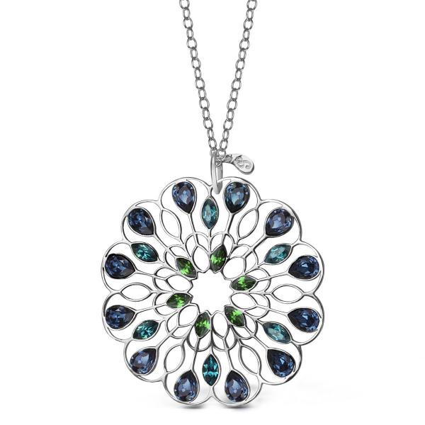 Zdjęcie Pavoni - zawieszka srebrna z kryształami Swarovskiego  #1