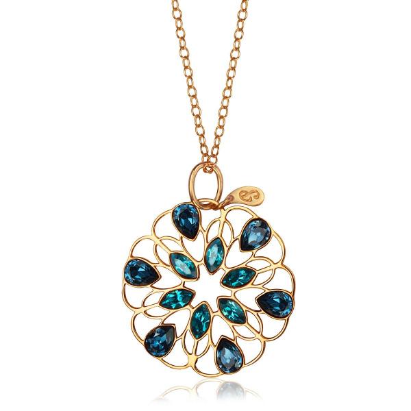 Zdjęcie Pavoni - zawieszka srebrna pokryta żółtym złotem z kryształami Swarovskiego #1