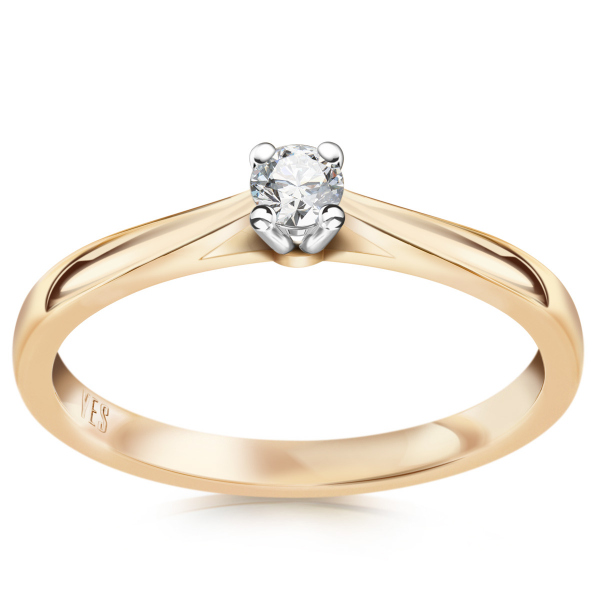 Zdjęcie Éternel - pierścionek złoty z diamentem #1