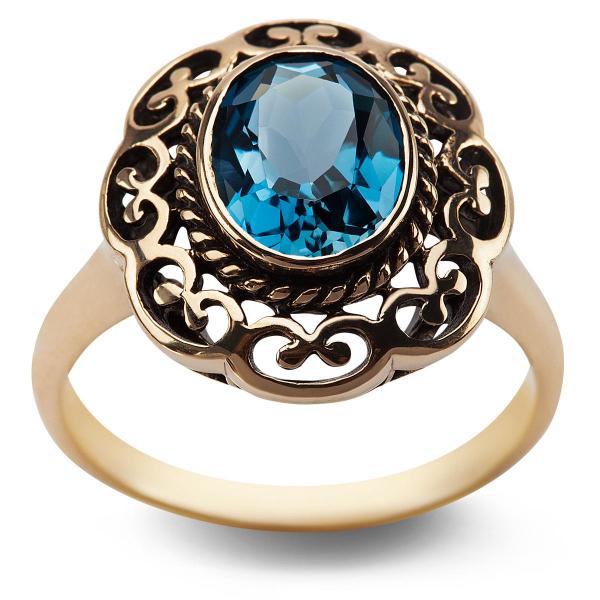 Zdjęcie Kolekcja Wiktoriańska - pierścionek z London Blue Topazem #1