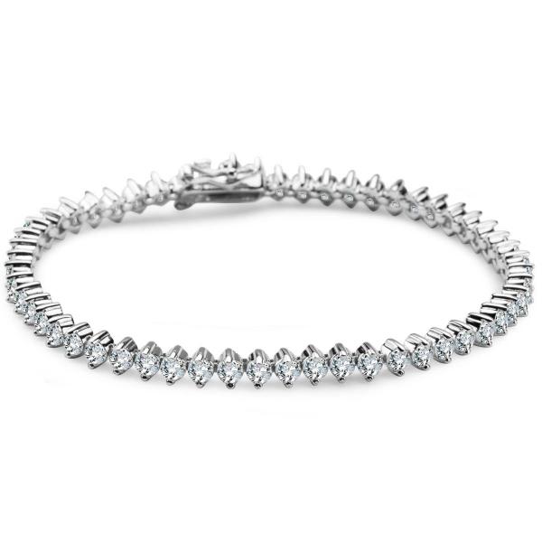 Zdjęcie Glow - bransoletka srebrna z cyrkoniami #1