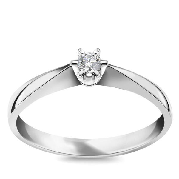 Zdjęcie Stella - pierścionek z białego złota z diamentem #1