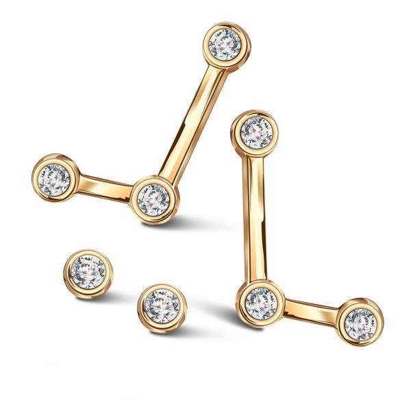 Zdjęcie Zodiak - kolczyki srebrne pokryte złotem z cyrkoniami #5