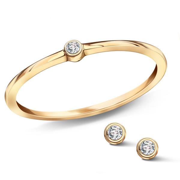 Zdjęcie Zodiak - kolczyki srebrne pokryte złotem z cyrkoniami #4