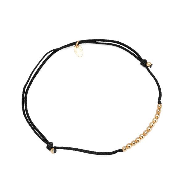 Zdjęcie Hippie - bransoletka ze złota na sznurku #1
