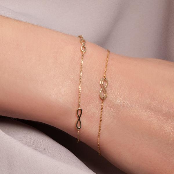 bransoletka-złota-nieskończoność-sempre-2
