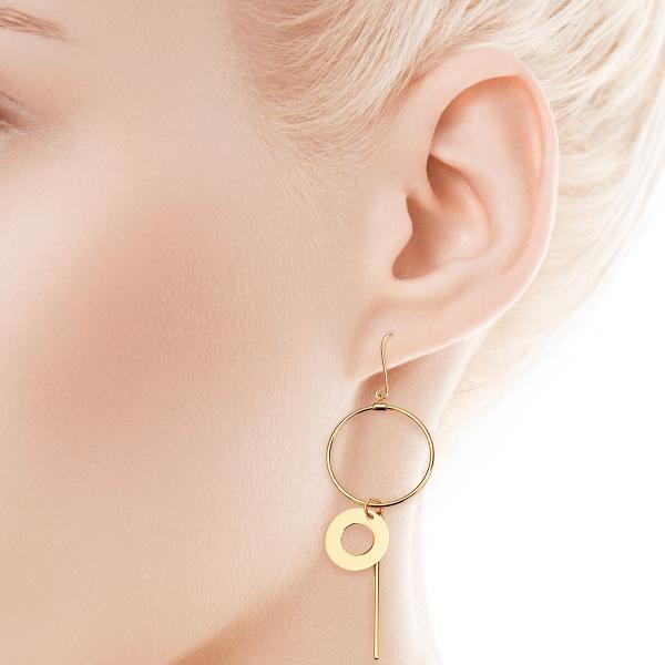 Zdjęcie Geometric - Złote kolczyki #2