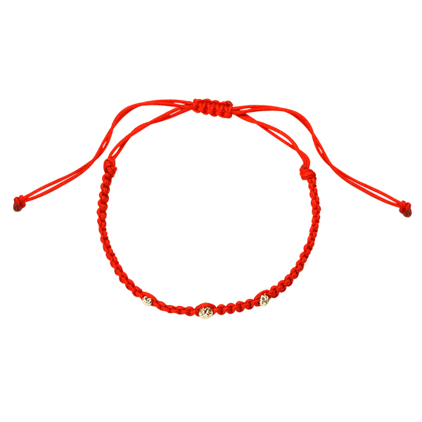 Zdjęcie Hippie - bransoletka złota na sznurku #1