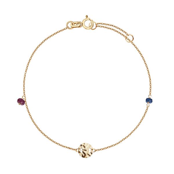 Zdjęcie Lucky - bransoletka złota z rubinem i szafirem #1