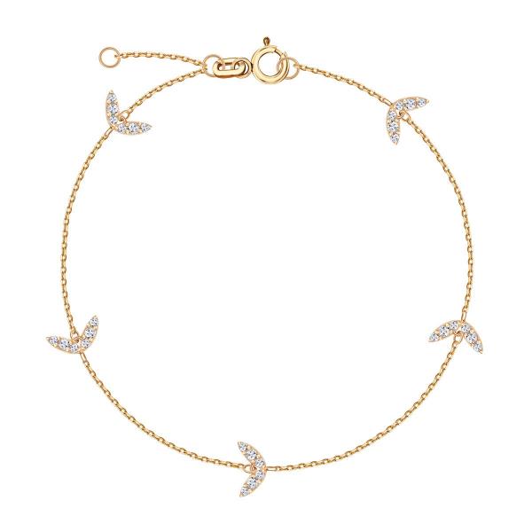 złota bransoletka z zawieszkami YES